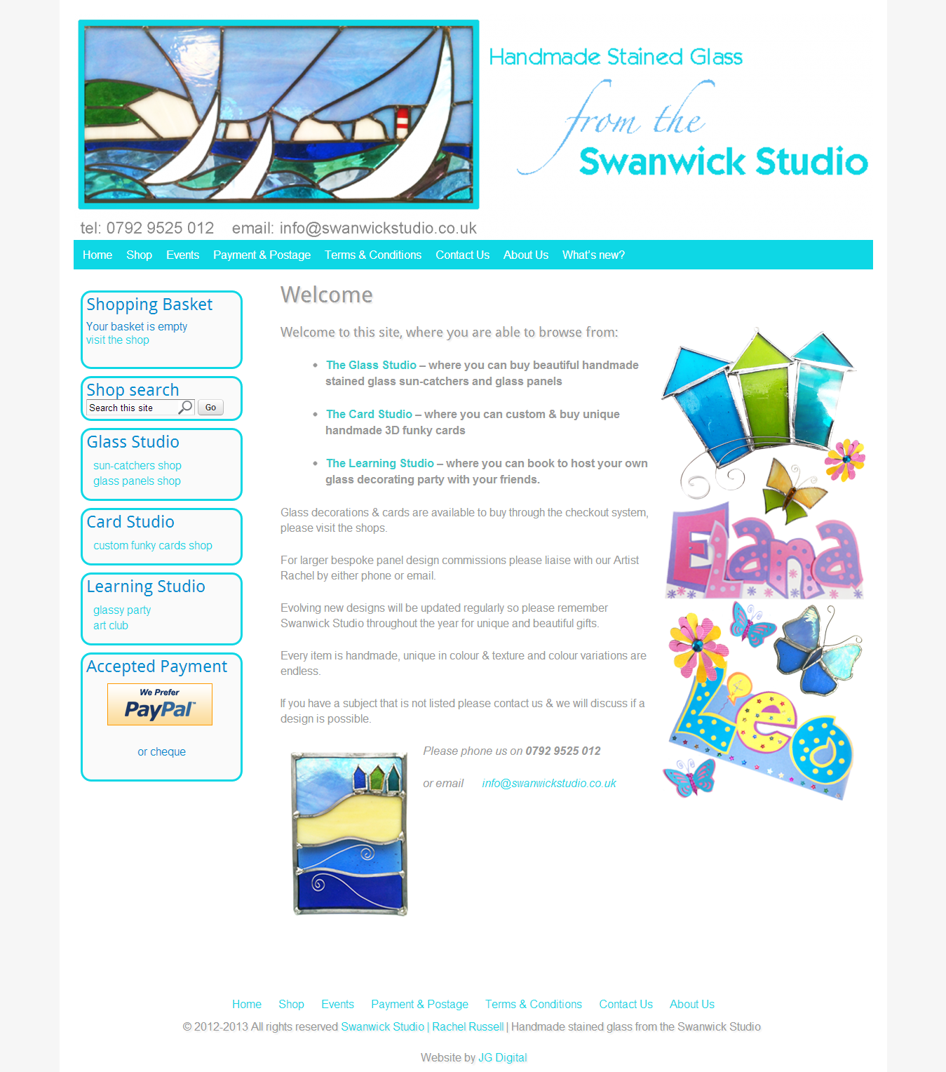 Swanwick Studio - handmade stained glass
